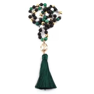 Jewelry - ❤Black Lava Tassel Statment Necklaces,❤
